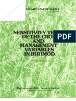 IRPS 95 Sensitivity Tests of the Crop and Management Variables in Irrimod