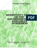 IRPS 94 Sensitivity Tests of the Environmental Variables in IRRIMOD