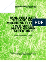 IRPS 66 Soil Fertility, Tillage, and Mulching Effects on Rainfed Maize Grown After Rice