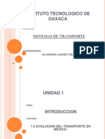 1.3 Evolución del transporte en México