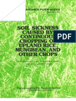 IRPS 99 Soil Sickness caused by continuous Cropping of Upland Rice, Mungbean, and Other Crops