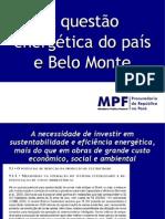 A Questao Energetic A Do Pais e Belo Monte