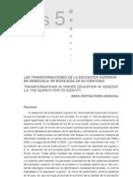 Las Transformaciones de La Educacion Superior - Must Read (Maria Parra)