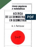 Acerca de La Demos Trac Ion en Geometria
