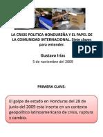 La Crisis Politica y Comunidad Internacional