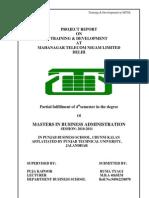 Trainign and Development-MTNL