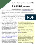 Sales Traning Module