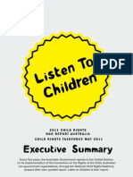 Listen to Children report - Executive Summary