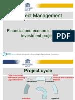 Financial and Economic Analysis Part 1 XG
