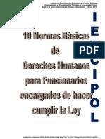 Normas básicas de Derechos Humanos para Funcionarios encargados de hacer cumplir la Ley iepcipol