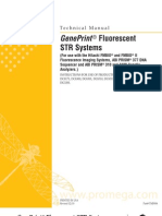 GenePrint Fluorescent STR Systems Protocol