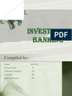 Ppt on Investment Banking Project