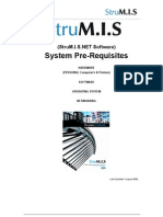StruMIS.net Pre Requisites