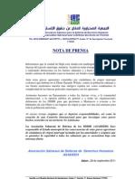 NOTA DE PRENSA ASADEDH