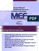 Testing Ethernet Services