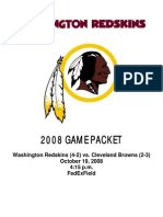 REDSKINS vs. Browns Media Guide