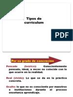 Tipos de Curriculum
