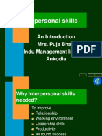 Interpersonal Skills and Personality Development