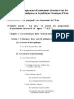 L'Influence Du Programme d'Ajustement Structurel Sur Les législations économiques