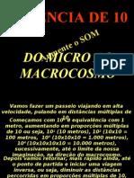 Macro Micro Potência de 10