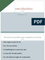 Acento Diacrítico - Ejercicio de Práctica