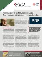Begroting geneeskundige verzorging 2012