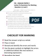 Eng Paper 2 Marking Scheme