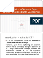 ICT Application to Technical Report Writing, Record