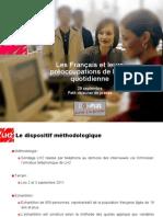Les Français et leurs préoccupations de la vie quotidienne - Baromètre DOMPLUS 2011