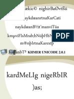 Slides Khmer Standard Unicode