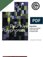 Exposition Paul Klee - Dossier de Presse
