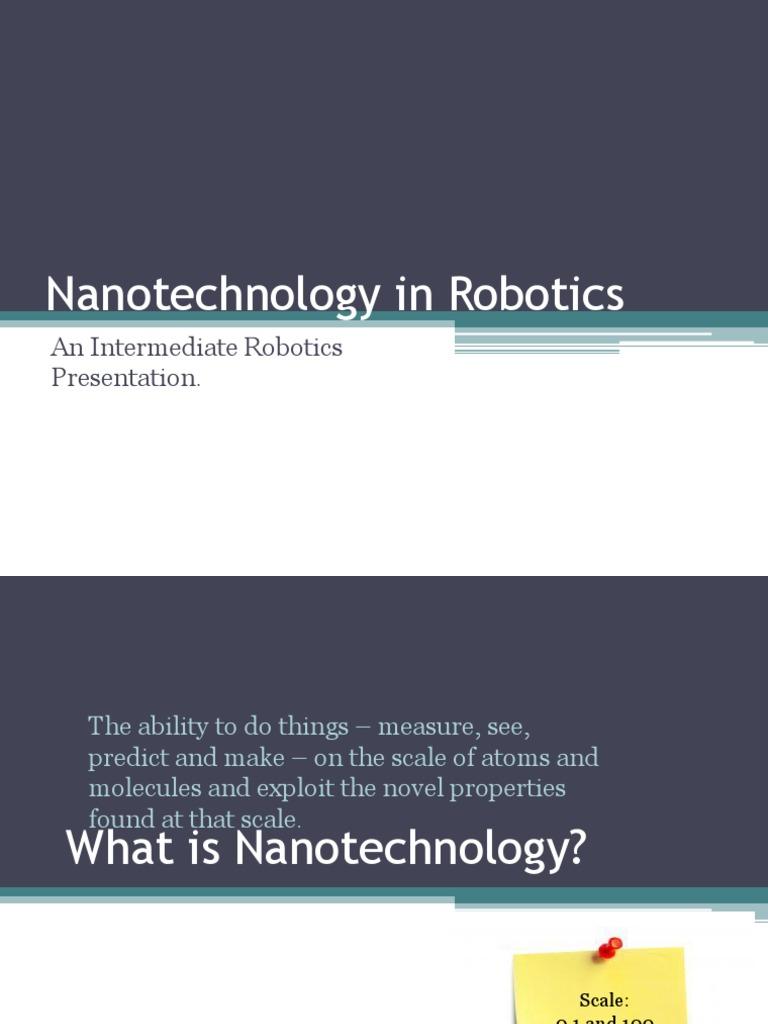 Nanotechnology in Robotics | Nanotechnology | Innovation