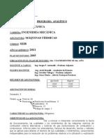 Máquinas Térmicas (0338) 2011