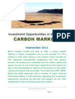 Investment Opportunities in the Global CARBON MARKETS