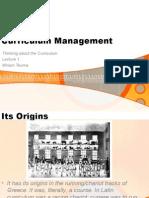 Curriculum Managemen for Studentst