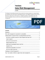 Corporate Water Risk Managment | 2degrees Sustainability Essentials