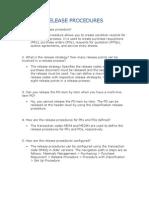 Release Procedures
