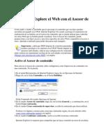 Explore El Web Con El Asesor de Contenido