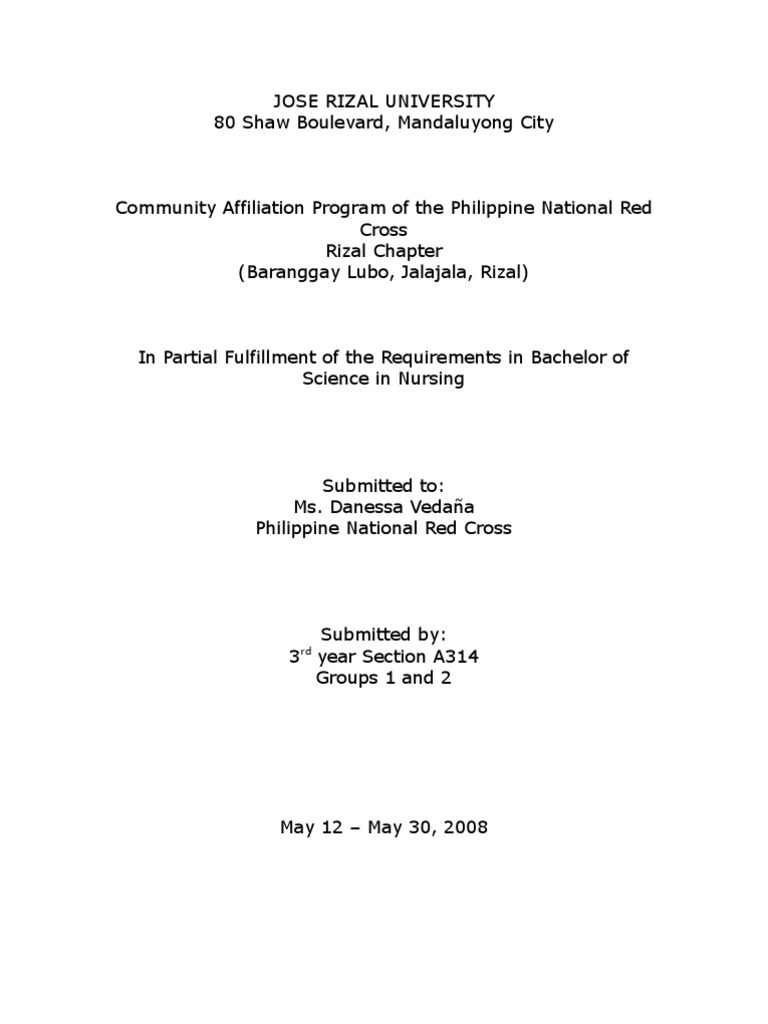Thesis Cover Page And Acknowledgement