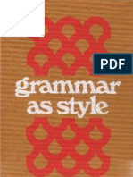 Virginia Tufte - Grammar as Style
