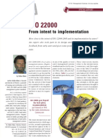 ISO 22000 Implementation
