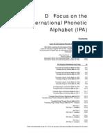 14420427 Focus on the International Phonetic Alphabet Ipa