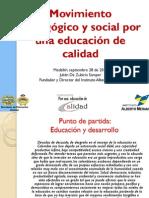 MOVIMIENTO Pedagógico y Social Por una educación de calidad Medellín