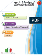 Lecture 1,Basis of Research Methods (Script)