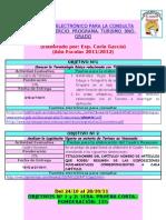 Programa Turismo 9no Grado 2011 2012