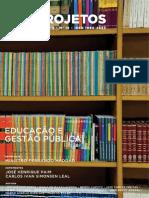Cadernos Fgvprojetos Ano6 n16 Educacao e Gestao Publica