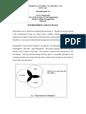 EVS(1st & 2nd sem) | Ecosystem | Environmental Impact Assessment