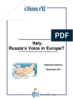 Italy, the Voice of Russia in Europe?