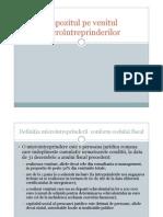 Curs4 Impozitul Pe Venitul Microintreprinderilor
