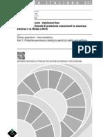 CEI 9-6_1 Applicazioni Ferroviarie - Installazioni Fisse - Provvedimenti Di Protezione Concern en Ti La Sicurezza Elettrica e La Messa a Terra - 3°